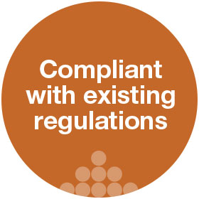 compliant with existing regulations