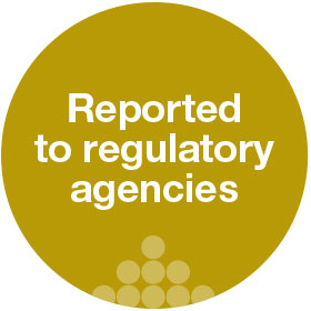reported to regulatory agencies