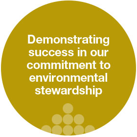 demonstrating success in our cimmitment to environmental stewardship