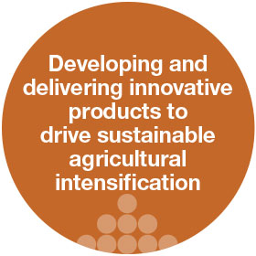 developing and delivering innovative products to drive sustainable agriculture
